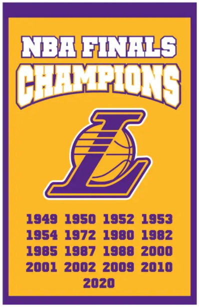 best holiday gifts official LA Lakers 17-time NBA Finals banner